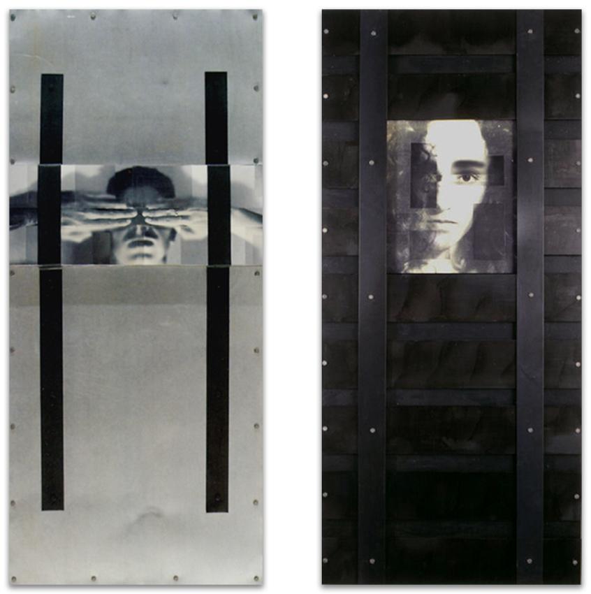 S.T., 1993, Fotogarfía, cristal y hierro, 180x80 cm, S.T. -dch
