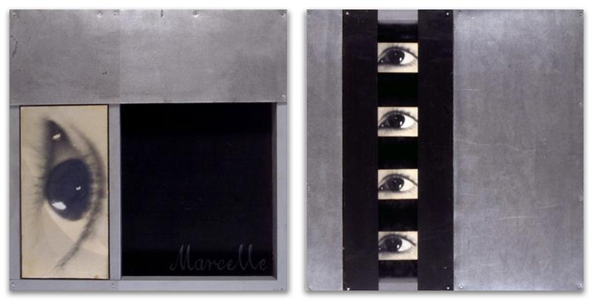 Alucinación; S.T., 1994, Fotografía y galvanizado sobre tabla