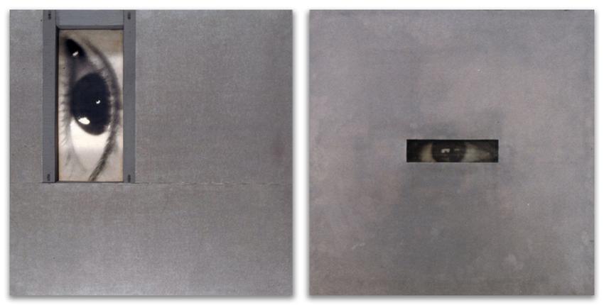 Ojo Vertical; S.T., 1994, Fotografía y galvanizado sobre tablero