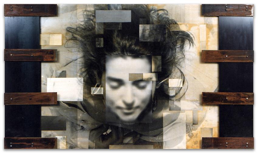 S.T., 1993, Fotografía y hierro, 122x212 cm