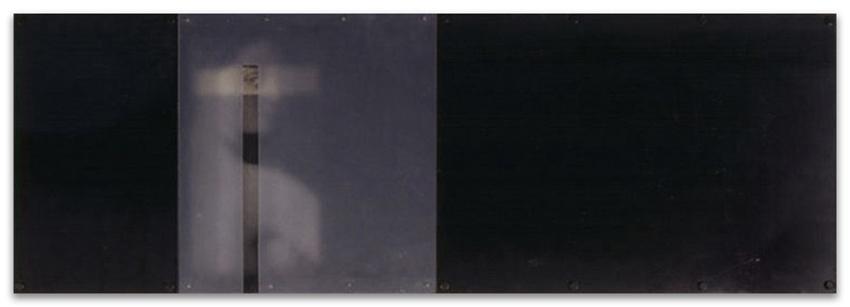 S.T., 1994, Fotografía, hierro y pvc, 35x105 cm, Colección particular