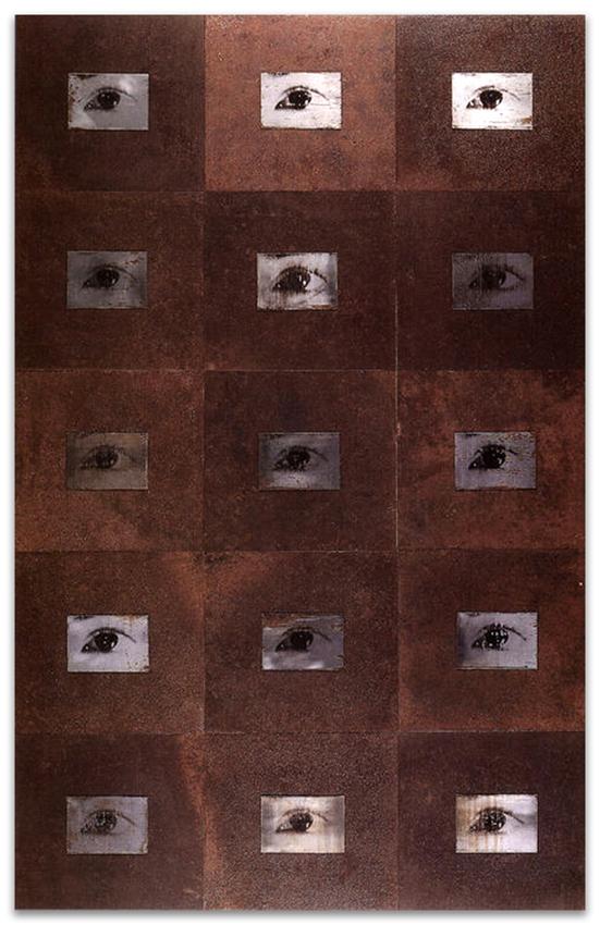 S.T., 1994, Fotografía y hierro, 136x86 cm