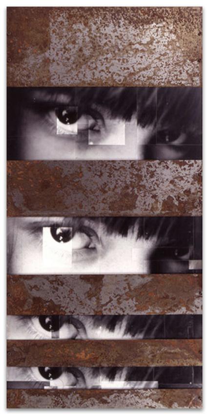 S.T., 1993, Fotografía y hierro, 180x86 cm, Colección pública