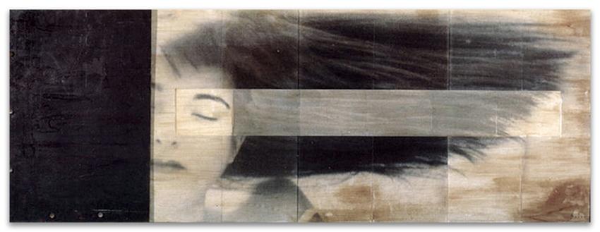 S.T., 1993, Fotografía y hierro, 61x161 cm, Colección particular
