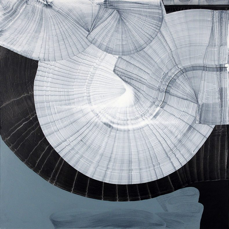 ST, 2015, Pintura vinílica sobre tela, 100x100 cm