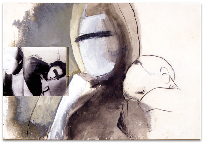 Siempre Unidos, 2001, Fotografía, acrílico, óleo y grafito sobre tela, 130×195 cm