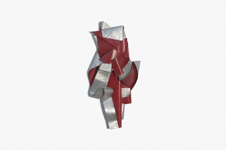 Fire Whirl, 2016, Acrílico sobre aluminio, 100x47x24 cm