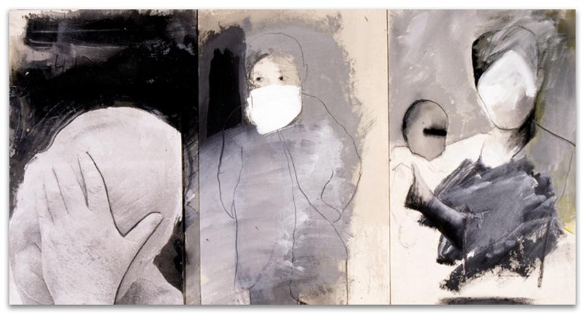 No Importa Dónde, 2000, Fotografía, acrílico, óleo y grafito so