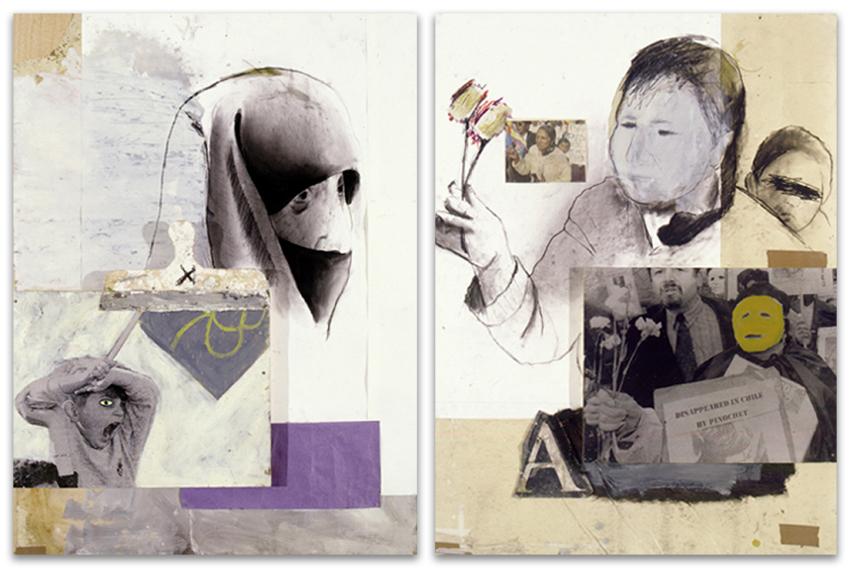 S.T., 2001, Técnica mixta sobre papel-tabla, 130x97 cm