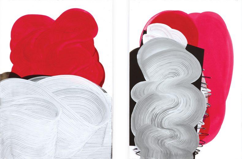 ST, 2011, Acrílico sobre papel, 70x50 cm c/u