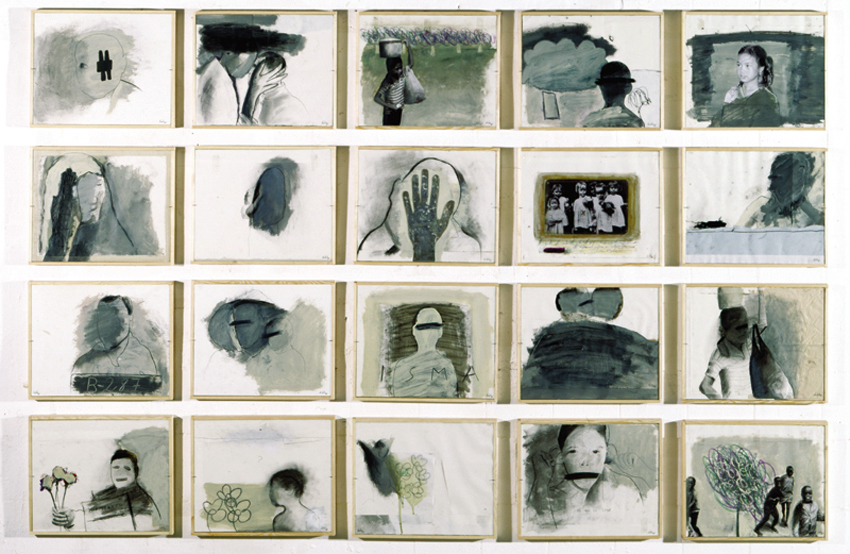 S.T., 2000, Técnica mixta sobre papel, 40x30 cm c.u.