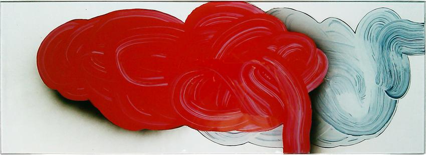 Vidriera, 2012, Esmalte sobre cristal, 30x83,5 cm