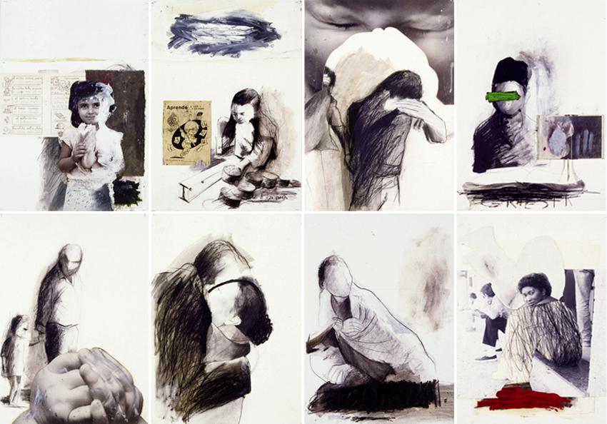 S.T., 2002, Técnica mixta sobre papel, 70x50 cm c.u., Colección particular