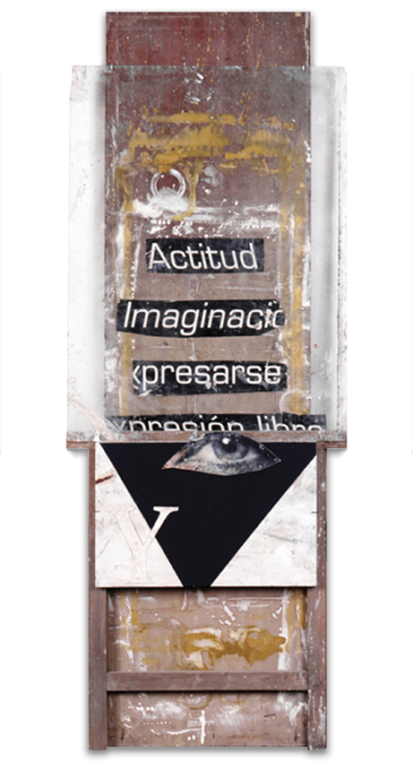 Expresión Libre, 1999, Técnica mixta, 188X70 cm