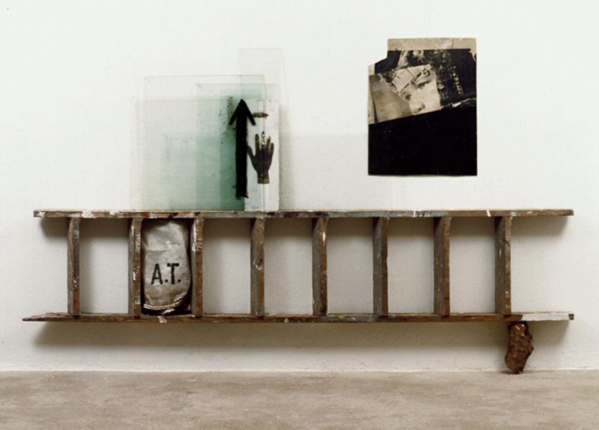 Entre Tres Mundos, 1999, Técnica mixta, 155x250 cm