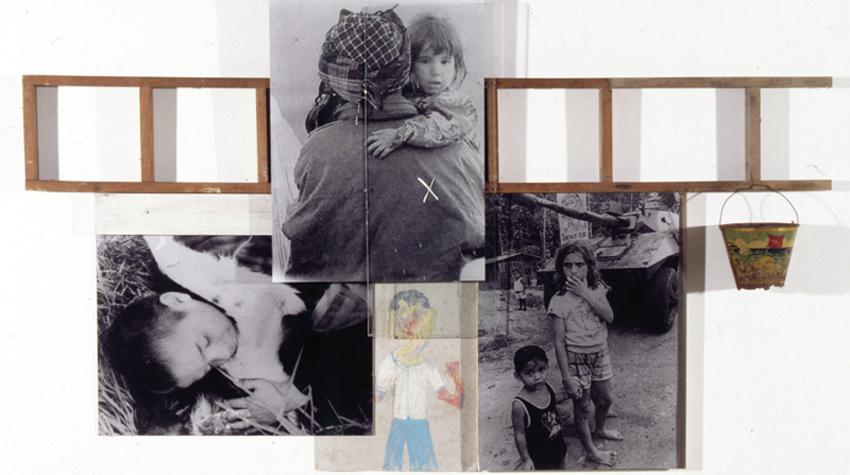 Meninos Da Rúa, 2000, Fotografía y técnica mixta, 103x176 cm