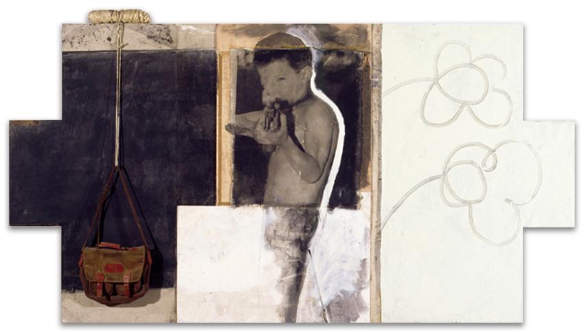 Hacia La Escuela, 1999, Técnica mixta sobre tela-tabla, 163x295 cm