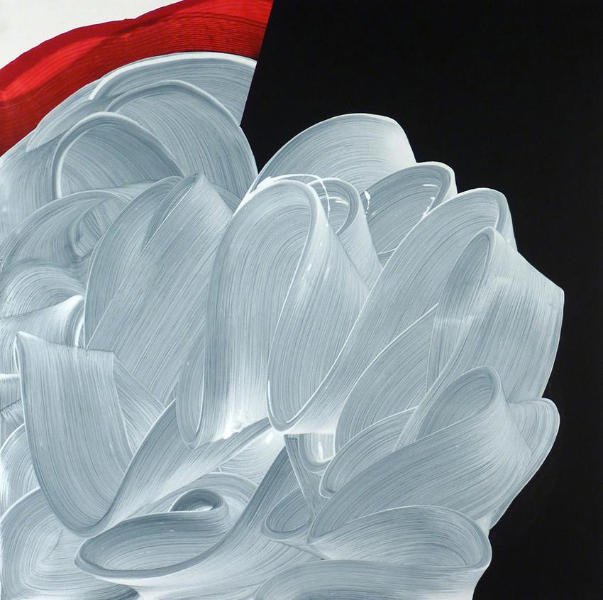 Blanco Volador, 2012, Acrílico sobre tela, 100x100 cm
