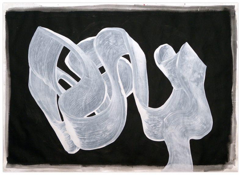 ST, 2010, Acrílico sobre papel, 106x150 cm