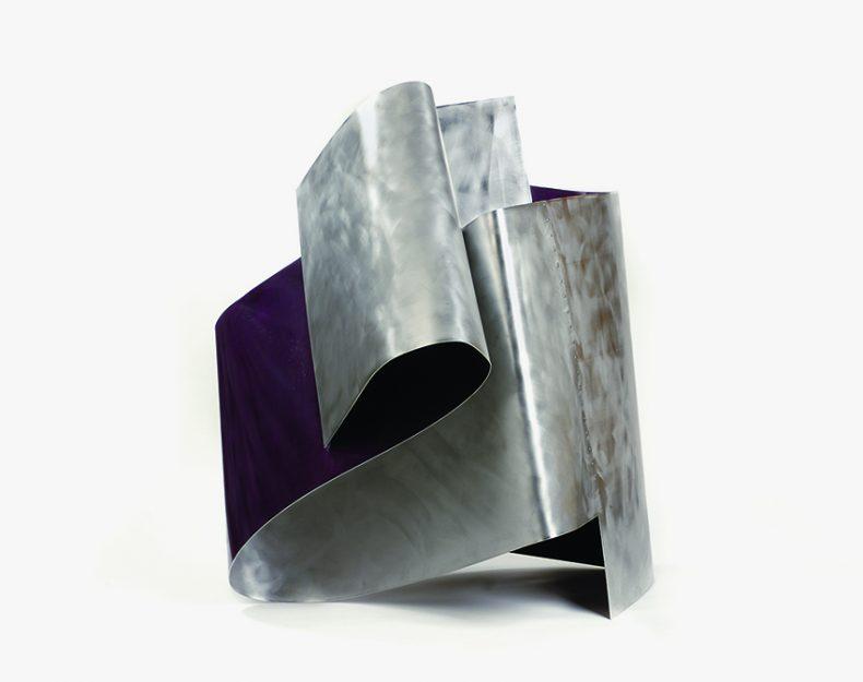 Thyles Rupes, 2011, Aluminio y esmalte, 130x120x120 cm