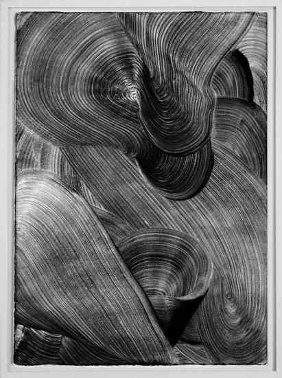 Graphein VII, 2013, Grafito sobre papel, 70x50 cm
