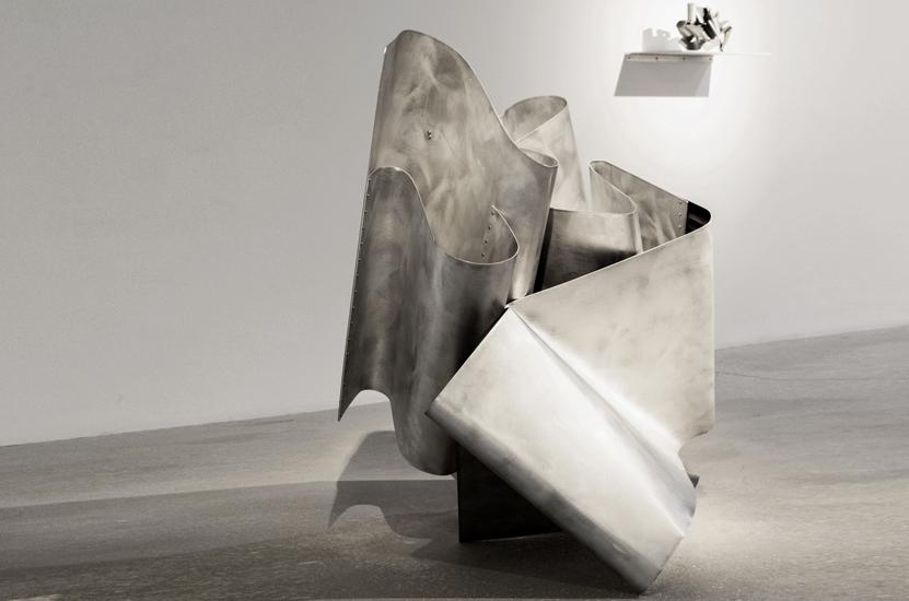Gurges, 2013, Esmalte sobre aluminio, 105x90x95 cm