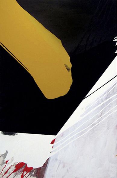 S.T., 2003, Acrílico y grafito sobre tela, 120 x 80 cm c.u. /