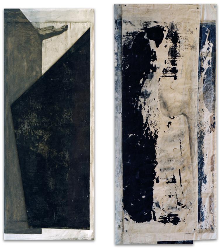 S.T., 1997, Técnica mixta, 190x75; 200x90 cm