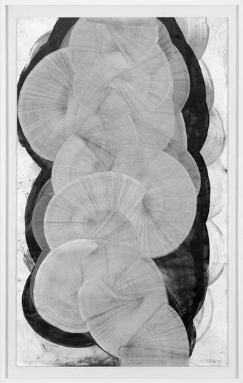 TURBINE I, 2013, Grafito sobre papel, 150x90 cm