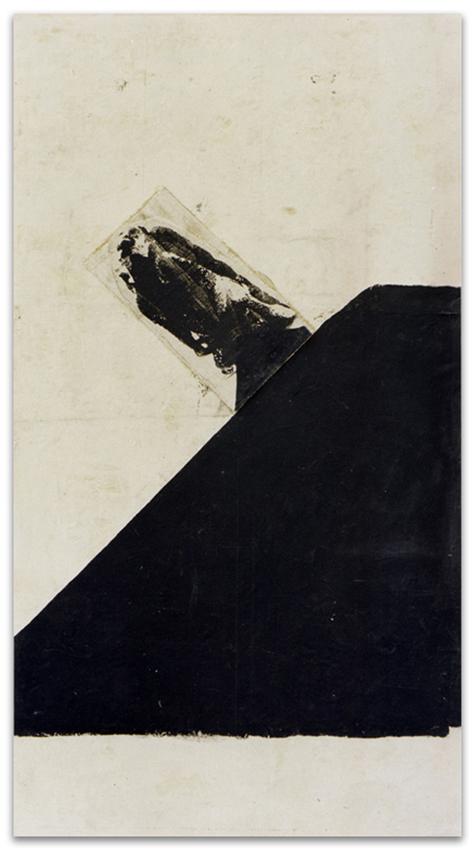 Alado, 1996, Acrílico y tinta serigráfica sobre tela, 250x180 cm