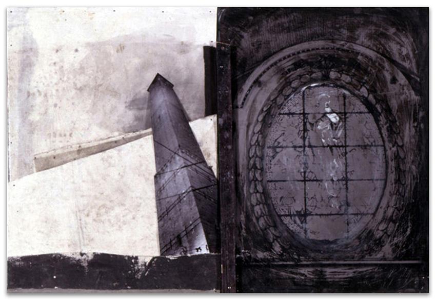 Asinelli, 1997, Fotografía y acrílico sobre tela/tabla, 61x91 cm, Colección particular