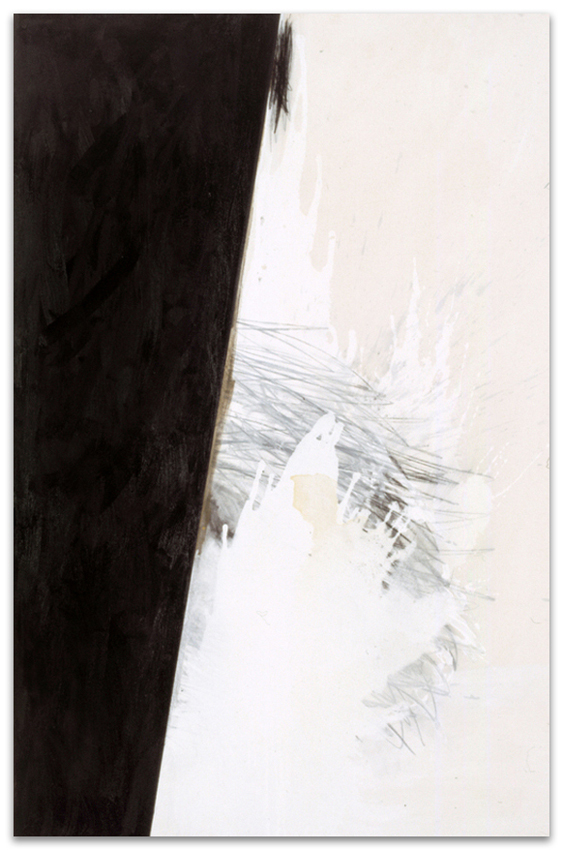 S.T., 2003, Acrílico, óleo y grafito sobre tela, 180x120 cm