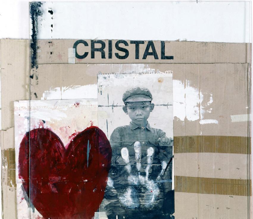 Cristal, 1999, Técnica mixta, 57X65 cm