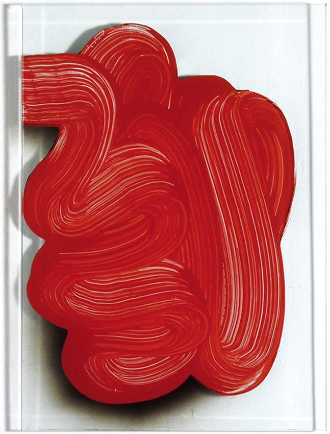 ST, 2011, Esmalte sobre cristal, 36,5x26 cm