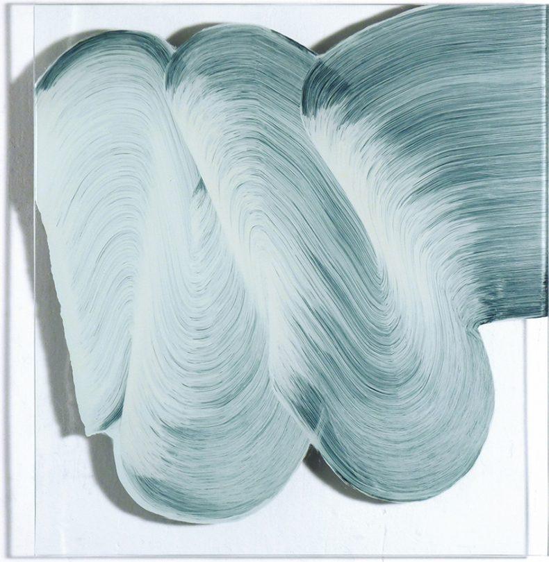 ST, 2012, Esmalte sobre cristal, 43x39,5 cm