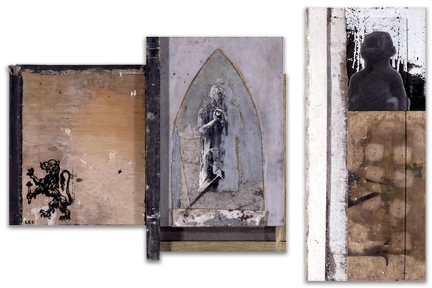 El Sueño Del Cardenal; Sàvia Bèstia, 1997, Mixta, 52x66 cm; 39x59; 57x18; 26,5x33 cm