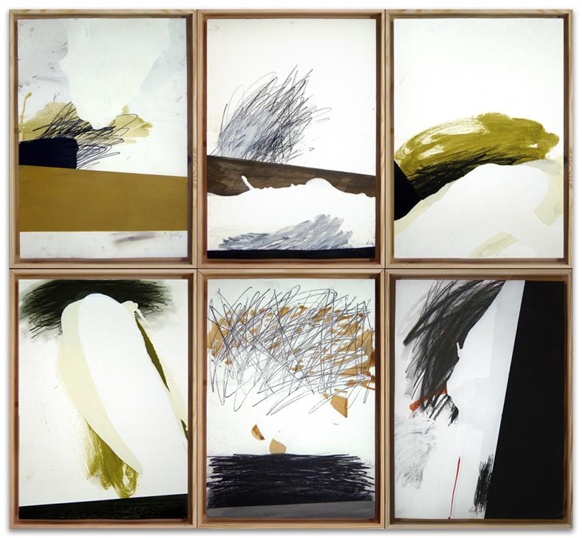 S.T., 2003, Acrílico, óleo y grafito sobre papel, 50x35 cm c.u.