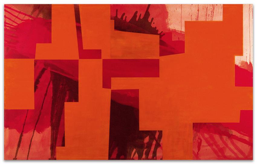 Domos, 2004, Acrílico y óleo sobre tela, 150x240 cm