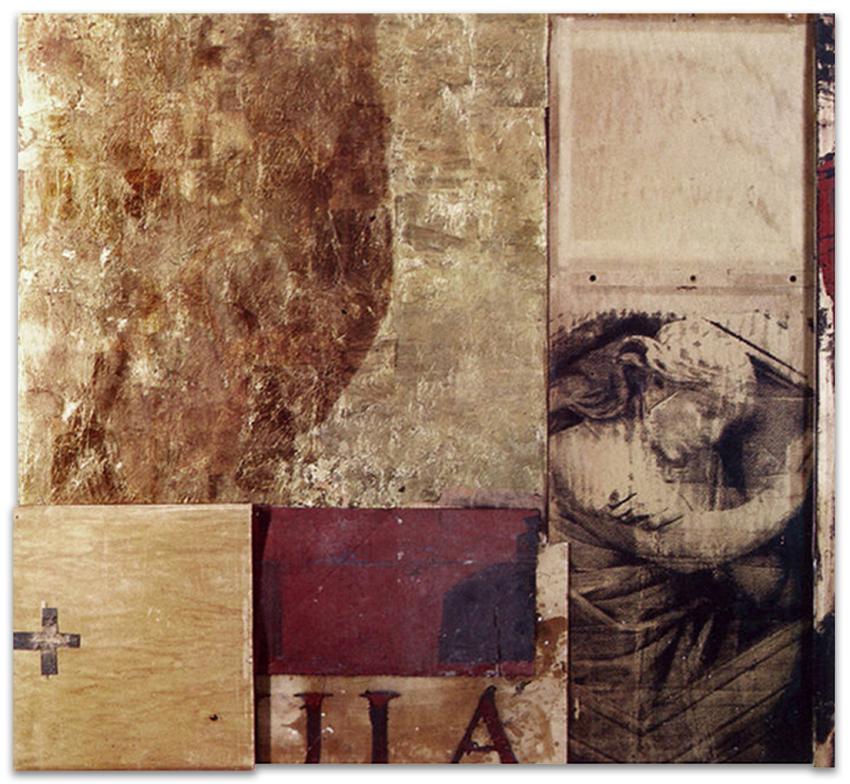 El Ángel Guardián, 1997, Técnica mixta, 150x155 cm, Colección particular