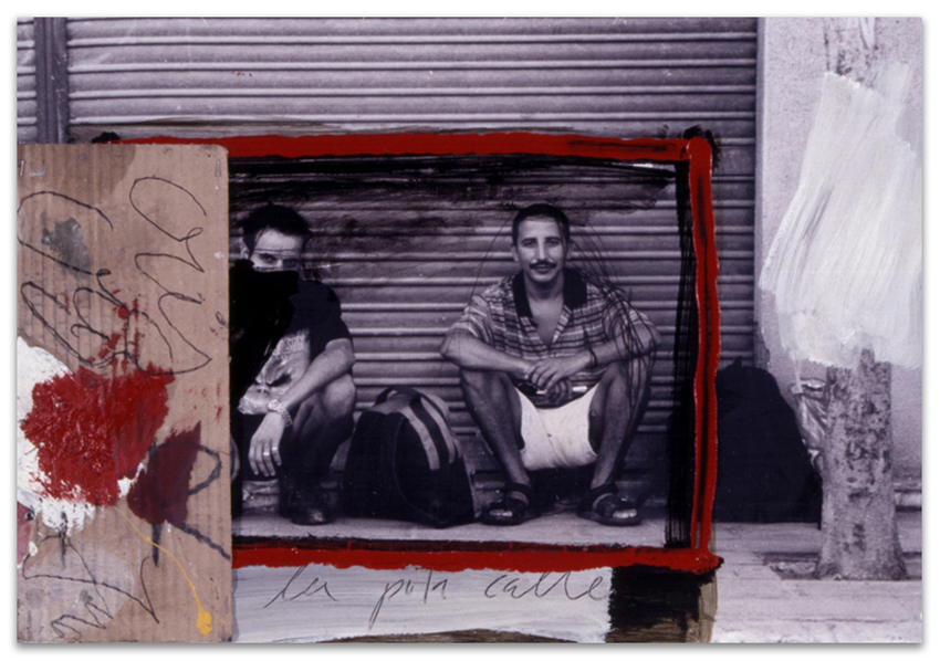 Hogar Dulce Hogar, 2002, Fotografía, acrílico, óleo, cartón y g