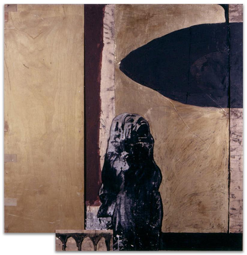 Grito Hacia Lo Negro, 1997, Técnica mixta, 163x156 cm