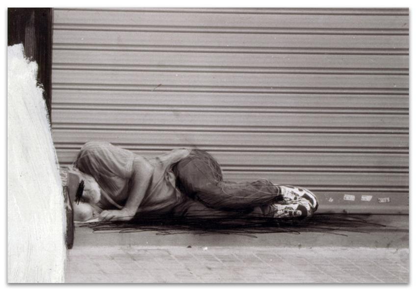 Hogar Dulce Hogar, 2002, Fotografía, óleo y grafito sobre tabla