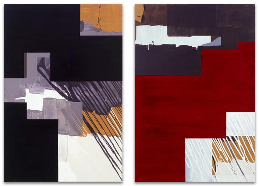 Lágrimas Negras; Trastocada, 2002, Acrílico y óleo sobre tela,