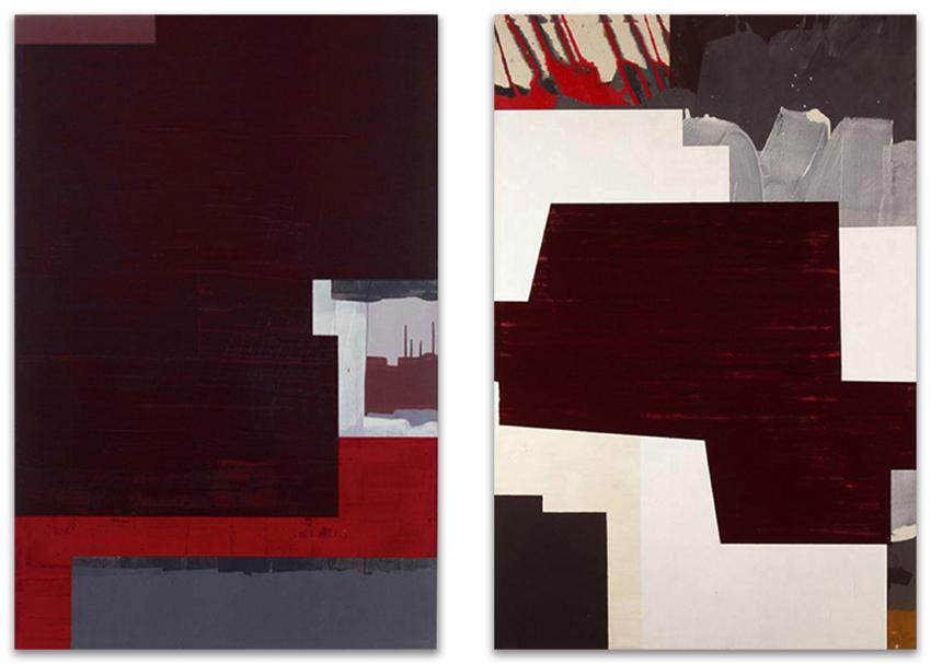 Urbanitas Red Collars; Paisaje Cotidiano, 2004, Acrílico y óleo