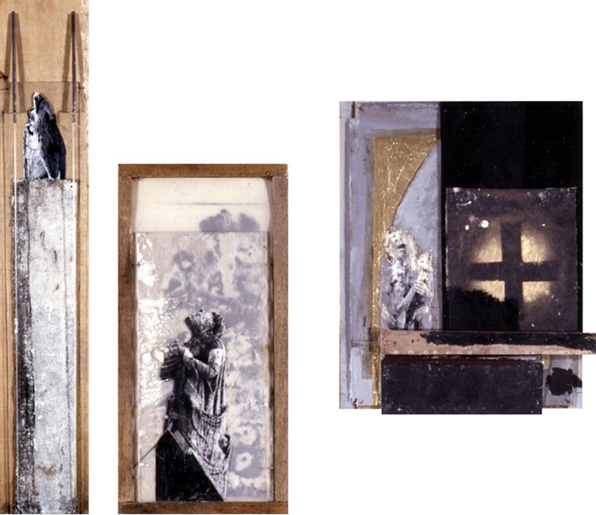 Summum; Clamando Al Cielo; El Trovador, 1996-1997, Mixta, 89×16; 46×22; 41×34,5 cm / Colección particular