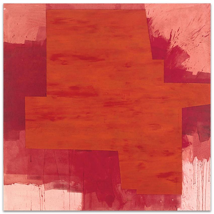 Solsticio, 2004, Acrílico y óleo sobre tela, 150x150 cm
